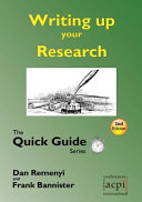 Writing up your Research   Quick Guide 2nd Edition