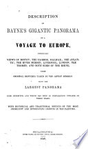 Description of Bayne s Gigantic Panorama of a Voyage to Europe