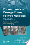 """Pharmaceutical Dosage Forms: Parenteral Medications, Third Edition. 3 Volume Set"" by Sandeep Nema, John D. Ludwig"