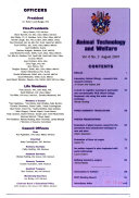 Animal Technology and Welfare