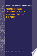 Nonlinear Optimization and Related Topics Book