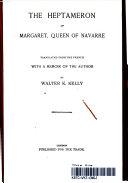 The Heptameron of Margaret  Queen of Navarre Book