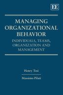 Managing Organizational Behavior Pdf/ePub eBook