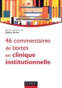 Pdf 46 commentaires de textes en clinique institutionnelle Telecharger
