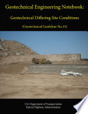 Geotechnical Engineering Notebook: Geotechnical Differing Site Conditions (Geotechnical Guideline No.15)
