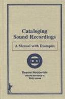 Cataloging Sound Recordings