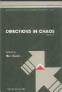 Directions in Chaos — Volume 1