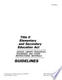 Title Ii Elementary And Secondary Education Act