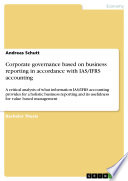 Corporate governance based on business reporting in accordance with IAS/IFRS accounting