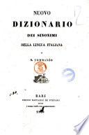 Nuovo dizionario dei sinonimi della lingua italiana di N. Tommaseo
