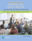Foundations of American Education Pearson Etext Access Card Book
