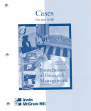 Foundations of Financial Management Casebook Book