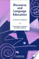 """Discourse and Language Education"" by Evelyn Hatch, Hatch"