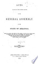 Acts of the General Assembly
