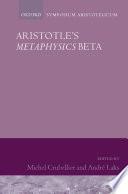 Aristotle s Metaphysics Beta