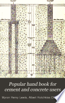 Popular Hand Book for Cement and Concrete Users