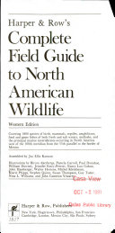 Harper   Row s Complete Field Guide to North American Wildlife  Western Edition