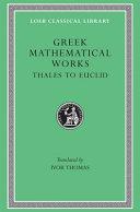 Selections illustrating the history of Greek mathematics