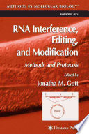 RNA Interference  Editing  and Modification