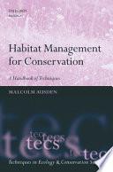 Habitat Management for Conservation