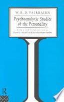 Psychoanalytic Studies of the Personality Book