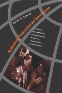 Rethinking Humanitarian Intervention