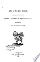 Publications of the Folk lore Society