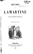 Oeuvres de Lamartine de l'Académie Française