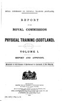Report of the Royal Commission on Physical Training  Scotland