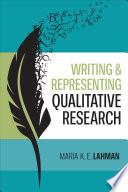 Writing and Representing Qualitative Research Book PDF