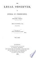 The Legal Observer  Or  Journal of Jurisprudence Book