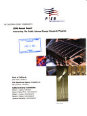 The California Energy Commission s     Annual Report Concerning the Public Interest Energy Research Program
