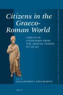 Citizens in the Graeco-Roman World