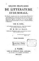 Leçons françaises de littérature et de morale