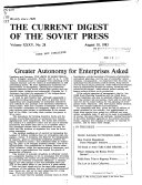 The Current Digest Of The Soviet Press