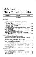 Journal Of Ecumenical Studies