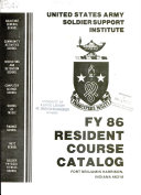 Fy 86 Resident Course Catalog