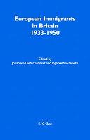 European Immigrants In Britain 1933 1950