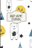 Baby Name Journal Book