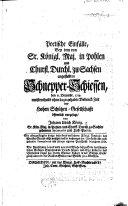 Poetische Einfälle, bey dem von Sr. Königl. Maj. in Pohlen und Churfl. Durchl. zu Sachsen angestellten Schnepper Schiessen, den 6 Decembr. 1719, etc. 24 Stücke