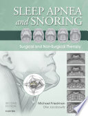 """Sleep Apnea and Snoring E-Book: Surgical and Non-Surgical Therapy"" by Michael Friedman, Ofer Jacobowitz"