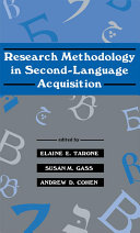Research Methodology in Second-Language Acquisition Pdf/ePub eBook