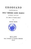 Istoria dell'imperio dopo Marco