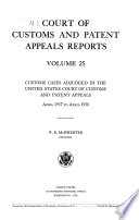 Court of Customs and Patent Appeals Reports