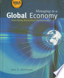 Cover of Managing in a Global Economy: Demystifying International Macroeconomics