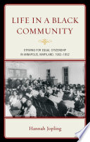 Life in a Black Community Book