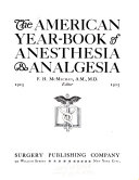The American Year Book Of Anesthesia Analgesia