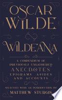 Wildeana  riverrun editions