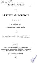 Description of an Artificial Horizon