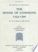 """The House of Commons, 1754-1790"" by Lewis Namier, John Brooke"